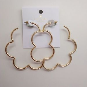 Kate Spade New Gold Scrunched Scallops Earrings